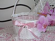 - Košík - Svadobný košíček II - 8395373_