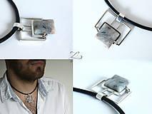 Šperky - Pánsky strieborný prívesok s achátom - Pánsky saGeniTe aGaTe - 8396492_