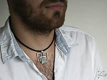 Šperky - Pánsky strieborný prívesok s achátom - Pánsky saGeniTe aGaTe - 8396496_