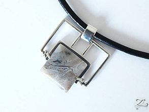 Šperky - Pánsky strieborný prívesok s achátom - Pánsky saGeniTe aGaTe - 8396493_