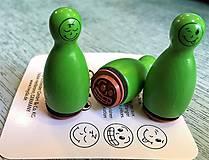 Pomôcky/Nástroje - Pečiatky smejkovia 3 ks - zelená - 8395233_