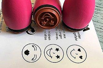Pomôcky/Nástroje - Pečiatky smejkovia 3 ks - ružová - 8395227_