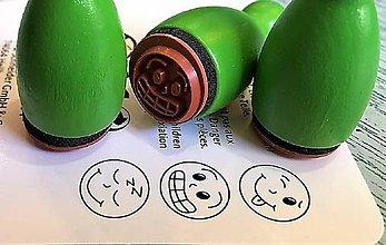 Pomôcky/Nástroje - Pečiatky smejkovia 3 ks - zelená - 8395232_