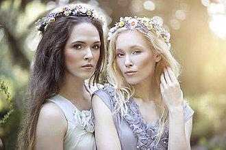 Ozdoby do vlasov - Kvetinový venček z lúčnych kvetov (blondínka) - 8394976_