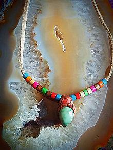 Náhrdelníky - náhrdelník tibetský Tyrkys a Koral - 8395756_