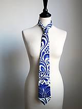 - kravata Modrý ornament  - 8396728_