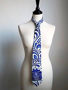Doplnky - kravata Modrý ornament  - 8396728_