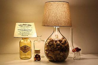 Svietidlá a sviečky - Funkčná dekoračná lampa WineLight - 8395096_