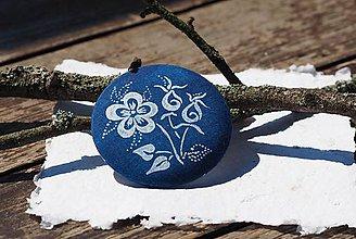 Odznaky/Brošne - brošňa modrotlač Śípka - 8398089_