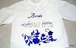 Detské oblečenie - košieľka do krstu pre Borisa - 8397682_
