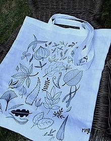 Nákupné tašky - Plátená taška - Listy - 8397564_