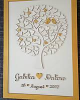 """Dekorácie - Svadobný strom """"Birds of love"""" - kniha hostí - 8395016_"""