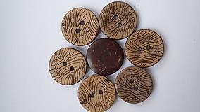 G180 Gombík kokosový 1,8 cm (Vzorovaný)