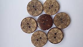 G180 Gombík kokosový 1,8 cm (Vločka 1)