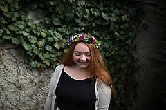 Ozdoby do vlasov - výpredaj z 35 eur Kvetinový polvenček