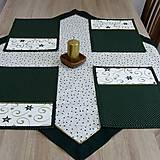 - Zeleno zlaté hviezdy - obrus štvorec 79x79 - 8397383_