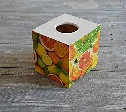 """Krabičky - box na vreckovky """"Citrusy"""" - 8397659_"""