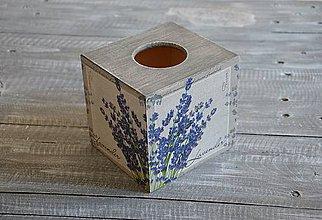 """Krabičky - box na vreckovky """"Levanduľa"""" - 8397676_"""