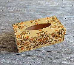 """Krabičky - box na vreckovky """"Ľudový I"""" - 8397686_"""