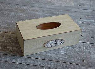 """Krabičky - box na vreckovky """"Zelený"""" - 8397706_"""
