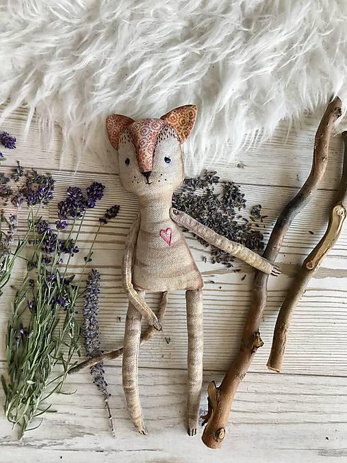 Hračky - Mačička levanduľová - 8396230_