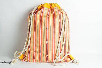Batohy - Vak Košelák - oranžový pásikáč - 8395396_