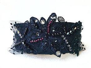 Ozdoby do vlasov - Black Arabella headband - 8398583_