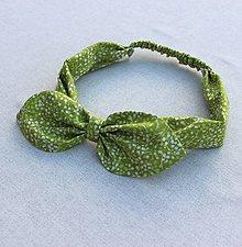 Ozdoby do vlasov - čelenka pin-up zelená Jar - 8399876_