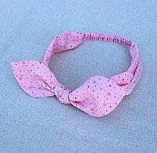 Ozdoby do vlasov - čelenka sweet pink - 8400086_