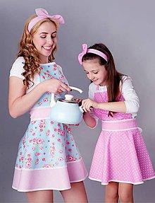 Detské oblečenie - zásterka mini Loli ružová - 8400630_