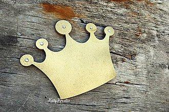 Detské doplnky - veľká zlatá korunka s kamienakmi - 8399896_