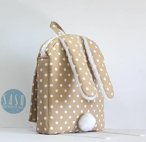 Detské tašky - RUKSAK zajačik od 4 r., svetlo hnedý - 8401576_