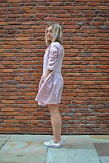 Šaty - Ľanové šaty CLARA ružové - 8399351_