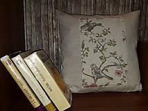 """Úžitkový textil - Obliečka na vankúš """"Vtáčiky"""" - 8401654_"""