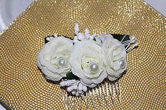 Ozdoby do vlasov - Svadobný hrebienok \