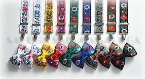 - Folklórny motýlik a traky - rôzne farby - 8400235_