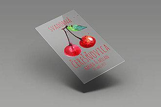 Darčeky pre svadobčanov - Svadobné etikety - svadobná čerešňovica - 8399354_
