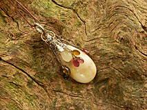 Náhrdelníky - V doprovode (opál, turmalín, sagenit) - 8399728_