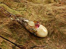 Náhrdelníky - V doprovode (opál, turmalín, sagenit) - 8399734_