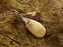 Náhrdelníky - V doprovode (opál, turmalín, sagenit) - 8399741_