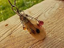 Náhrdelníky - V doprovode (opál, turmalín, sagenit) - 8399895_