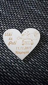 Darčeky pre svadobčanov - Srdiečko pre hostí 10 - magnetka - 8399048_