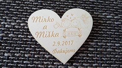 Darčeky pre svadobčanov - Srdiečko pre hostí 10 - magnetka - 8399060_