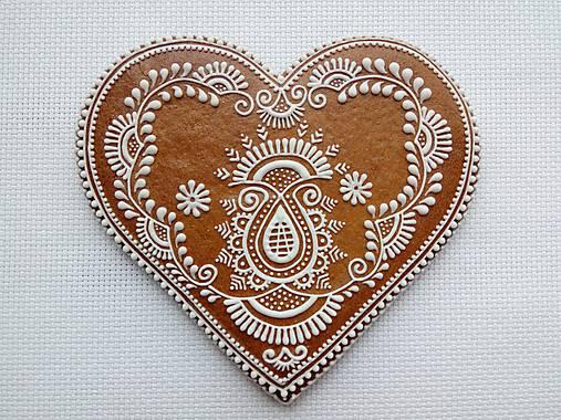 Dekorácie - Medovníkové srdce XI - 8400110_