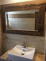 Zrkadlá - Zrkadlo so starého dreva - 8399241_