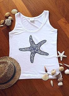 Tielka - Tielko s ornamentovou morskou hviezdicou... - 8399170_