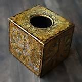 Krabičky - Pre kráľa -vintage krabica na servítky vreckovky-darček aj pre muža - 8398768_