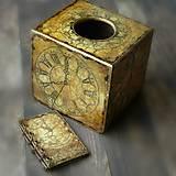 Krabičky - Pre kráľa -vintage krabica na servítky vreckovky-darček aj pre muža - 8398806_