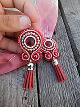 - Červené strapce - šujtáš - 8401390_