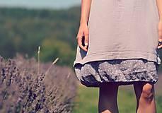 Šaty - Šedé šaty - 8400495_